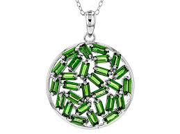 green chrome diopside sterling silver pendant with chain 2 98ctw rnh632 jtv com