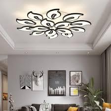 2019 Weiß Acryl Moderne Led Kronleuchter Für Wohnzimmer Schlafzimmer Led Lüster Große Decke Kronleuchter Leuchten Ac85 260v