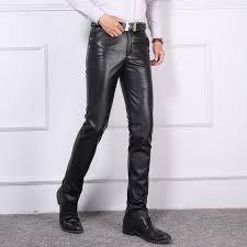 30 40 hot new men s genuine leather pants men tight locomotive