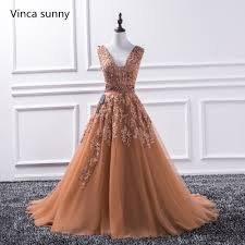 <b>Sexy V Neck</b> Lace Long <b>Prom Dresses</b> 2019 New Tulle Beaded ...