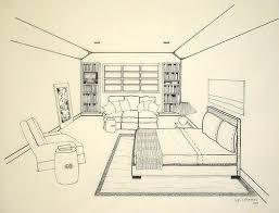 interior designers drawings. Bedroom Perspective Interior Designers Drawings