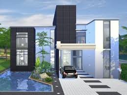 Small Picture The Sims Resource Onyx Modern house by Chemy Sims 4 Downloads