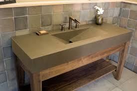 Bathroom Vanity Granite Vessel Single Sink Bathroom Vanity With Granite Top Faucet