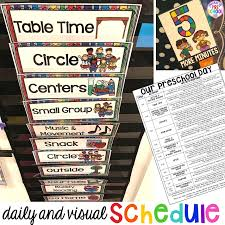 Interactive Charts For Preschool Preschool Daily Schedule And Visual Schedules Pocket Of