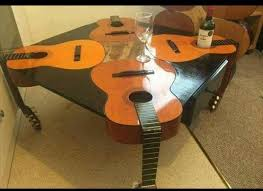 Acoustic Guitar Coffee Table