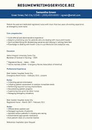 Professional Er Nurse Resume Example Rn Resumes Examples