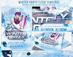 Winter Party Flyer Template By Ranvx54 On Deviantart