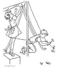 Small Picture Camping Coloring Pages Sheets and Pictures