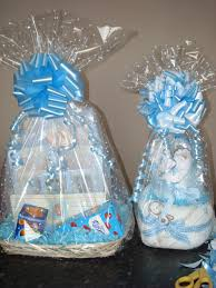 Gift Basket Wrapping Ideas Dotted New Baby Gift Wrap With White Dot Cellophane Baby Blue