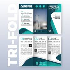 Tri Fold Brochure Layout Business Tri Fold Brochure Template Design With Turquoise Color