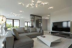 dom jednorodzinny w sochaczewie Średni salon z kuchnią z jadalnią styl nowoczesny zdjęcie design interiorsinterior designsalonsliving rooms