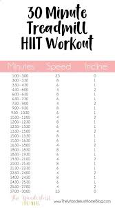 hiit workout plan at home new 30 minutes hiit high intensity interval training treadmill workout