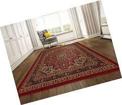 ottomanson ottohome persian heriz oriental design area rug with non skid rubb