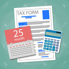 Pay Deduction Calculator Time For Pay Taxes Concept Calendar Tax Form Document Calculator