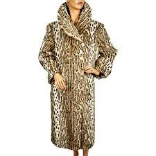 ocelot size vintage faux fur ocelot leopard print coat by sirbain 1971 ladies size