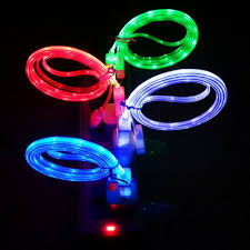 Blue Light Up Iphone Charger Buy Laagie 4 Pcs Glow In The Dark Light Up Led Lightning
