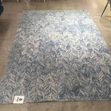 best new west elm vines wool rug in blue lagoon u x u nwt free