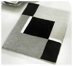 brilliant black and white bathroom rugs vita futura small bath rug modern anti skid bathroom rug gray
