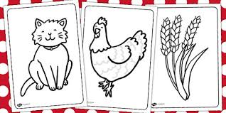 Small Picture Little Red Hen Colouring Sheets Little Red Hen Colour
