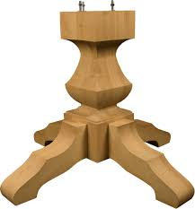 mission table transitional table kit traditional pedestal