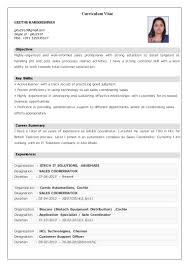 Resume For Sales Coordinator Sales Coordinator Resume Samples