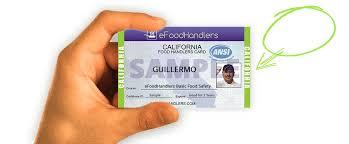 california food handlers card