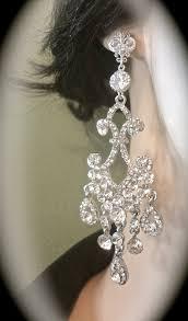 tags rhinestone earrings chandelier earrings
