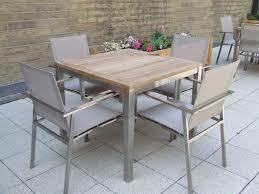 teak bistro table and chairs. View The Full Image Bistro 4 Seater Teak Stainless Steel \u0026 Weave Square Set Table And Chairs