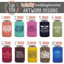 Koozie Design Ideas Wedding Koozie Ideas 10 Red Hot Wedding Koozies Totally