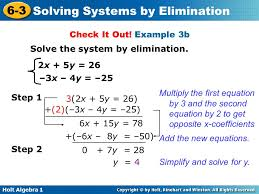 example 3b solve the system by elimination 2x 5y