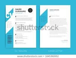 Creative CV Resume Template Blue Background Stock Vector Royalty Custom Resume Background