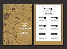 Resturant Menu Template Restaurant Menu Template Food Icons Classical Handdrawn Sketch Free