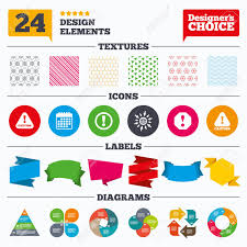 Hazard Chart Banner Tags Stickers And Chart Graph Attention Caution Icons