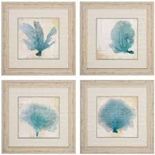 >propac blue coral wall art set of 4