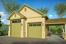 Garage Plan Is A Sq Ft Country Style Car Garage Design With Rv Parking And Attached Breezeway From Associated Designs
