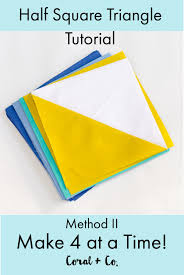Half Square Triangle Cutting Chart Half Square Triangles 4 At A Time How To Make Half Square