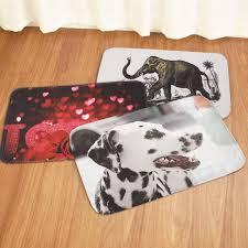 40x60cm non slip bath mats washroom carpet love rose elephant dog printed floor carpet pad rugs cod