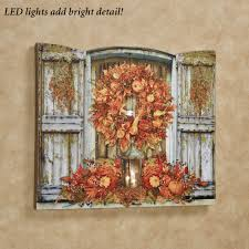Fall Lighted Canvas Harvest Welcome Led Lighted Canvas Wall Art