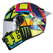 Over the years valentino has had numerous amounts of different helmet designs. Valentino Rossi Agv Pista Gp R Soleluna 2016 Helmet Replica Race Helmets