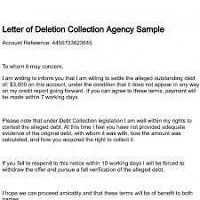 Letter of Deletion