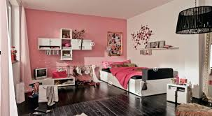 Pink And Black Girls Bedroom Awesome Image Of Pink And Black Ikea Bedroom Decoration Using