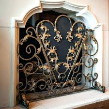 decorative fireplace screens wrought iron modern fire wall mount electric open chimney ideas wood burning stove seven worst techniques mo