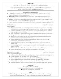 Example Management Resume Example Management Resume Resume Examples Simple Resume For Management Position