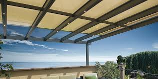 glass roof system terrado gp5100 dimmable led light sun protection and weather protection
