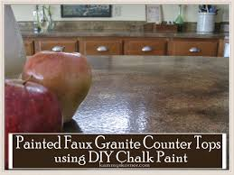 Paint Kitchen Countertops To Look Like Granite Kammys Korner Painted Faux Granite Counter Tops With Diy Chalk