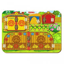 <b>Деревянная игрушка Woodland Бизиборд</b> Репка - Акушерство.Ru