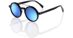 Shanghai Tang <b>Retro Chinese</b> Round Sunglasses Black - <b>Ink</b> Blue ...