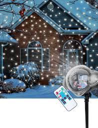 Outdoor Holiday Lights Amazon Com Christmas Snowfall Projector Light Led Snow
