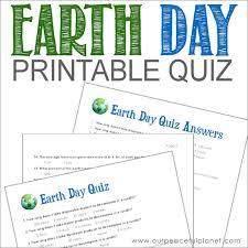 Earth Day Quiz Free Printable