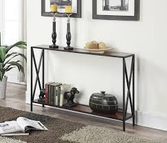 small entryway table. Full Size Of Furniture, Gorgeous Small Entryway Table Cherry Wood Shelf Metal Frame Material Black
